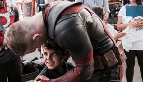 Ryan Reynolds Hugs Boy