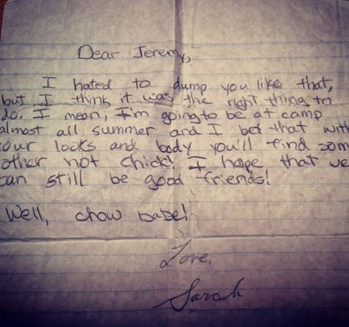 15 Most Absurd Breakup Letters Ever Written: How To Dump Someone