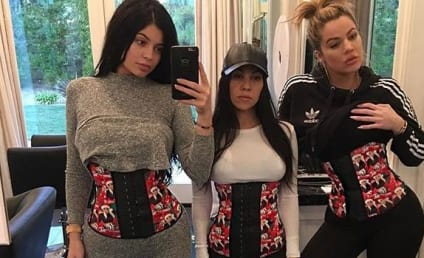 Kylie Jenner Posts Christmas Waist Training Selfie, Continues to Cash In on Dumb Trend