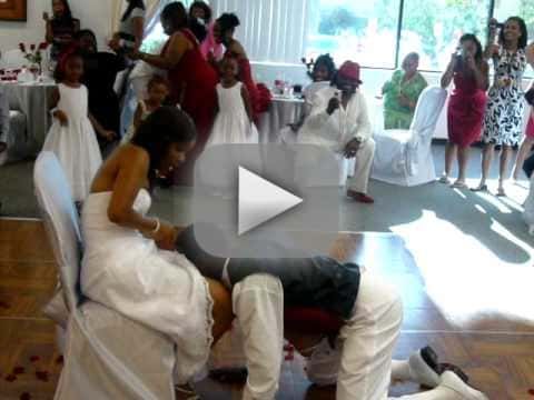 Wasted Groom Tries, Fails to Remove Wife's Garter