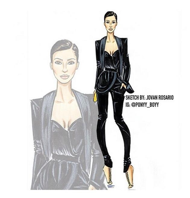 Kim Kardashian Drawing