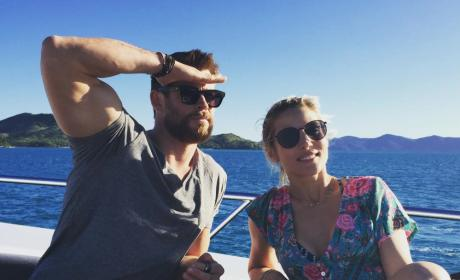 Chris Hemsworth and Elsa Pataky Image