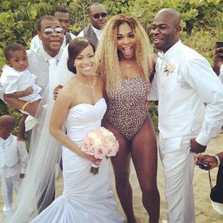 Serena Williams Wedding Crashing Photo