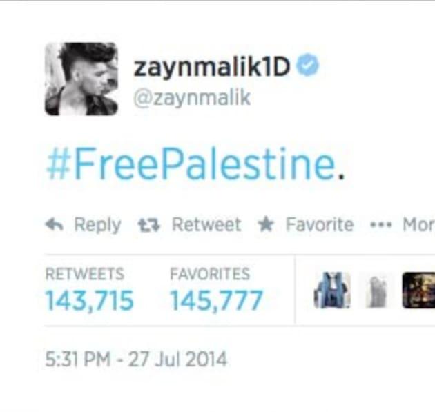 Celebrity tweets on gaza