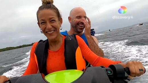 Mark and Key water ski on Love In Paradise: Caribbean