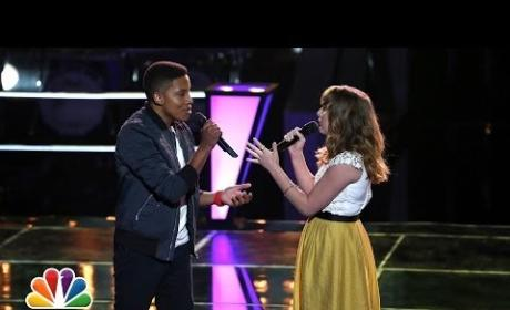 """Caroline Pennell vs. Anthony Paul: """"As Long As You Love Me"""" - The Voice Battle Round"""
