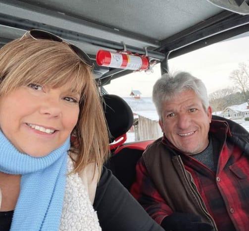 Caryn Chandler and Matt Roloff in Winter