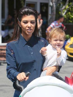 Kourtney Kardashian with Daughter