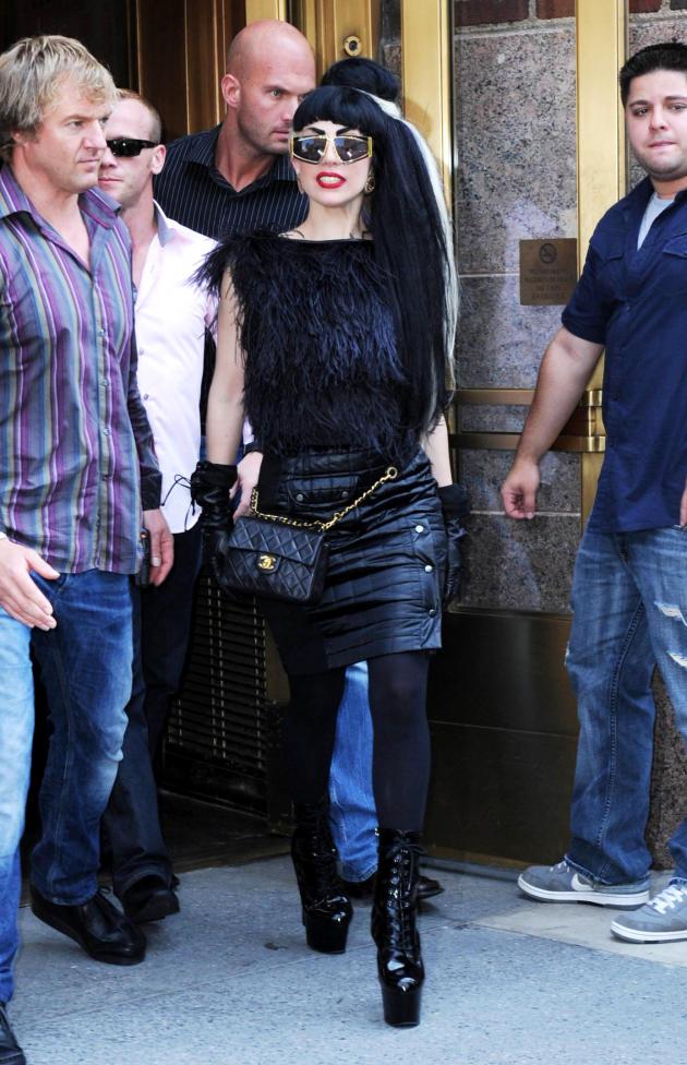 Gaga Goes Black
