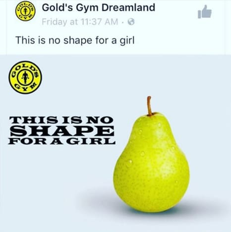 Gold's Gym Pear Shape Ad