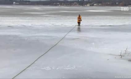 Golden Retriever SAVED From Icy Michigan Lake