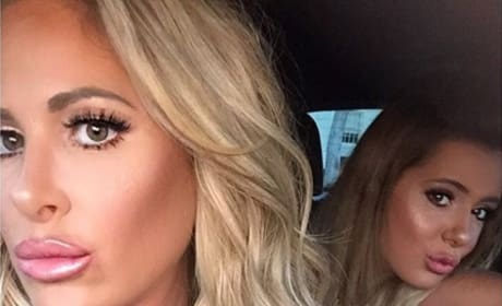 Kim Zolciak and Brielle Biermann duckface