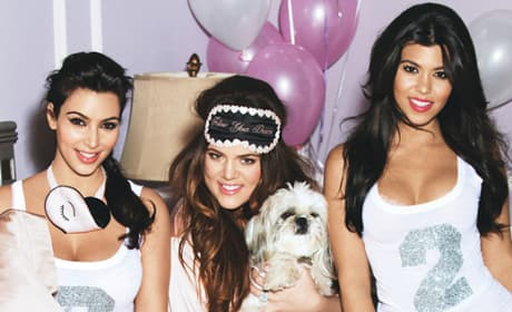 Kim, Kourtney and Khloe Kardashian for Glamour
