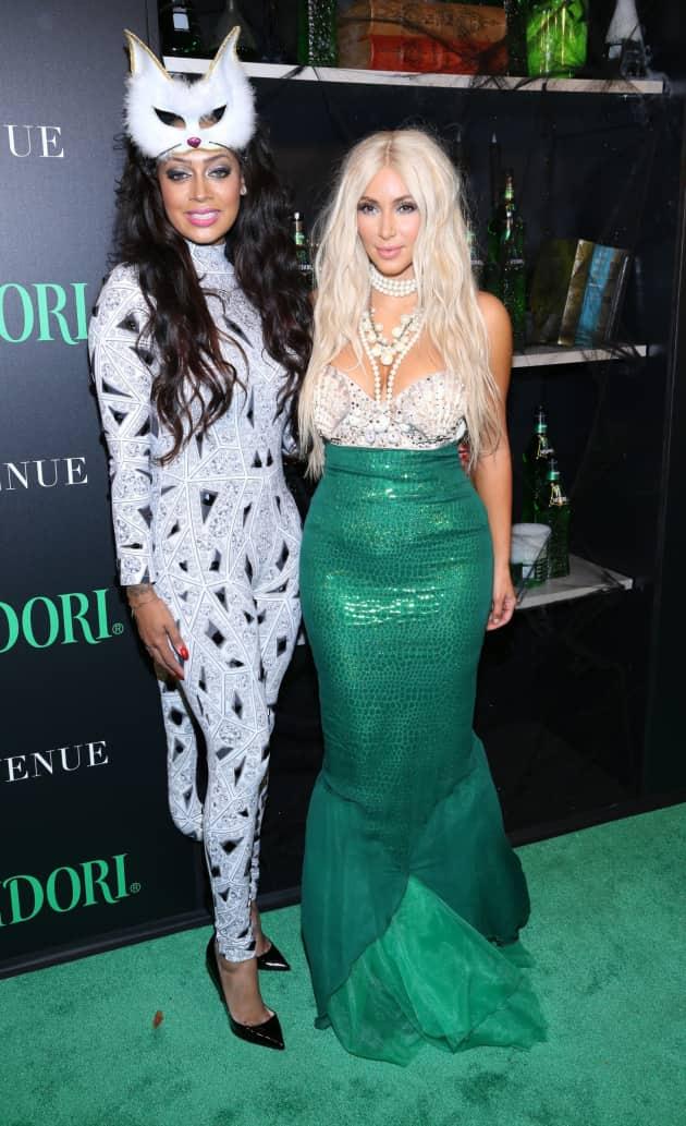Lala Anthony and Kim Kardashian Halloween Costumes