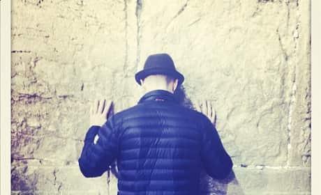 Justin Timberlake Western Wall Photo