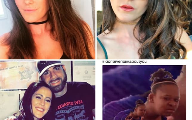 Jenelle evans with choker