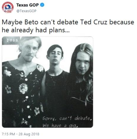 Beto O'Rourke throwback tweet