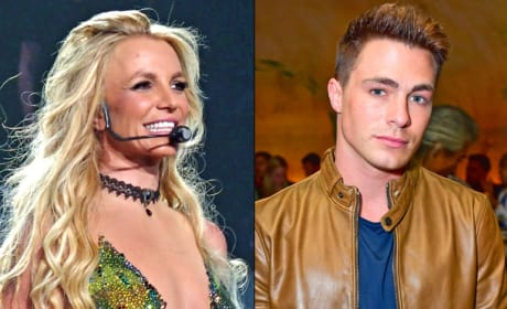 Britney Spears Dances with Colton Haynes, Admires His Butt