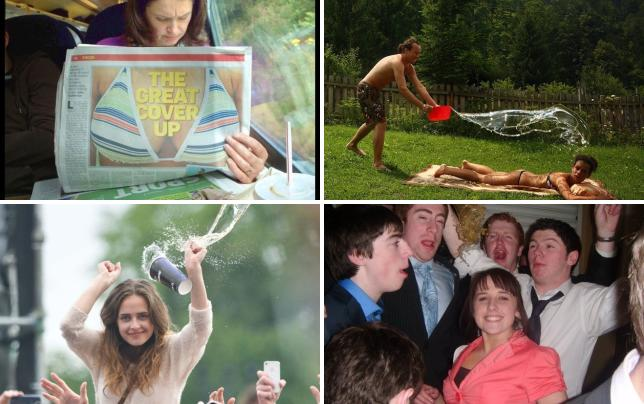 21 pictures taken at the perfect time the great cover up