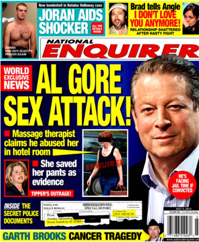 Al gore accused of sexual harrassment