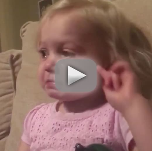 Little girl cries over disney movie elicits all the feels