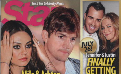 Mila Kunia and Ashton Kutcher Star Cover