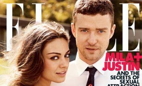 Mila Kunis, Justin Timberlake Elle Cover