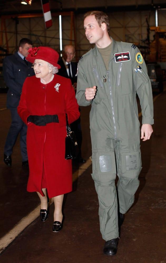 Prince William and Queen Elizabeth II