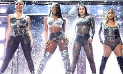 "Fifth Harmony Hurls ""Camila Cabello"" Off Stage at VMAs"