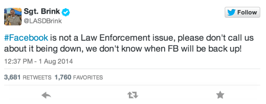 Police FB Message