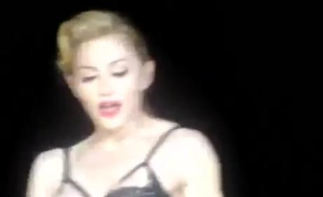 Madonna Flashes Ass in Concert