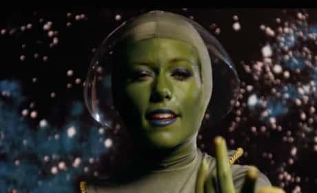 Kendra Wilkinson as an Alien