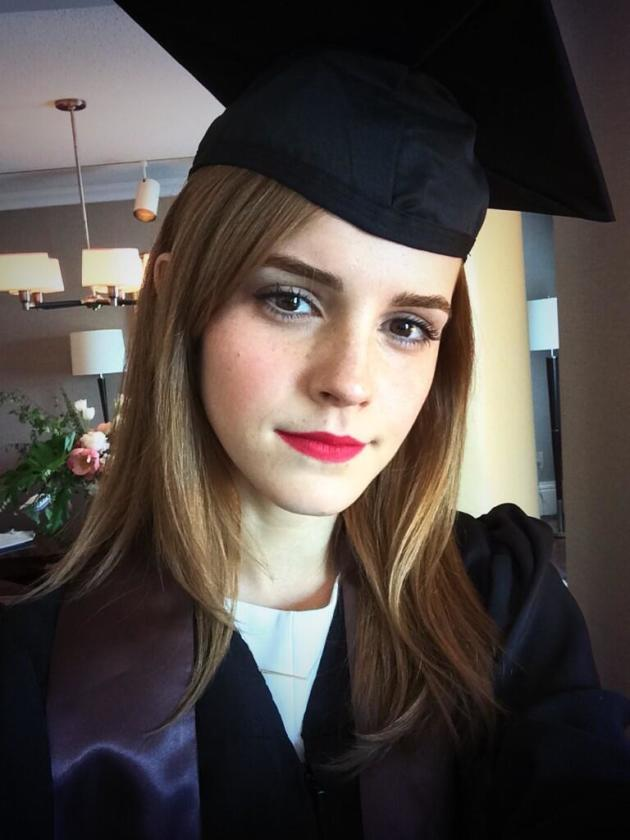 Emma Watson Cap and Gown Pic