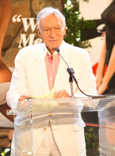 Hugh Hefner at the Mic