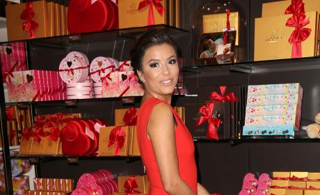 Eva Longoria Celebrates Valentine's Day with Godiva