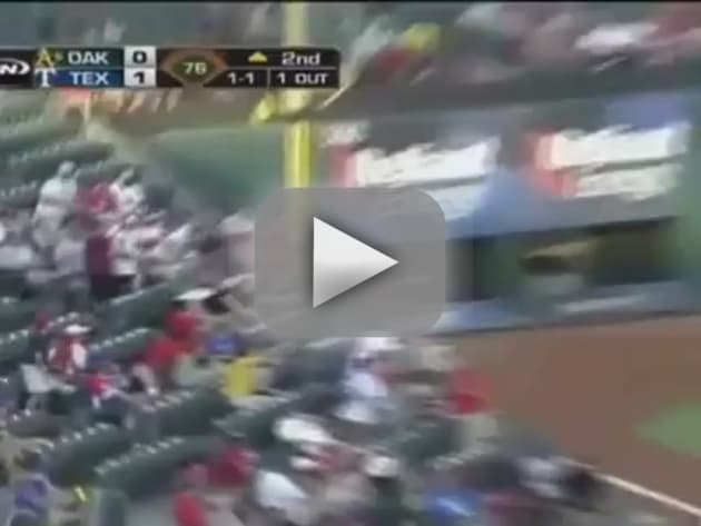 Rangers Fan Falls Over Railing