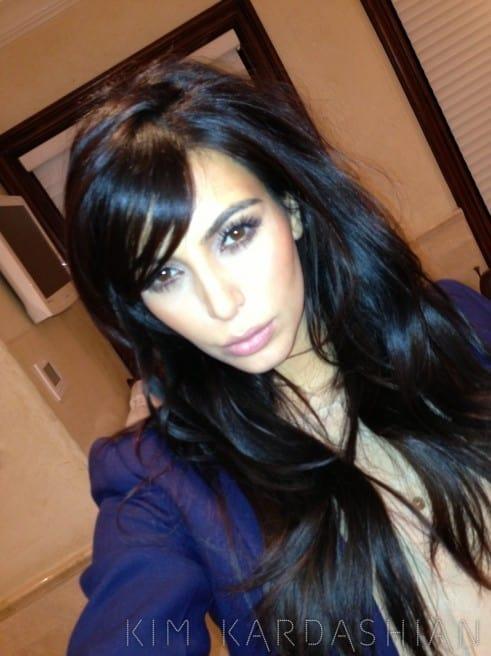 Kim Kardashian Debuts New Bangs Theyre Real - The Hollywood Gossip-8710