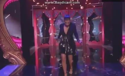 Kim Kardashian Nearly Falls on Stage at MTV EMAs!