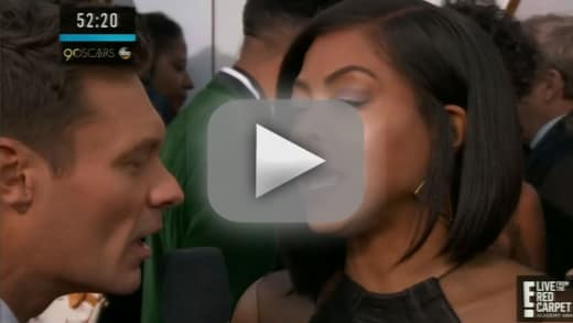 Taraji p henson destroys ryan seacrest on oscars red carpet