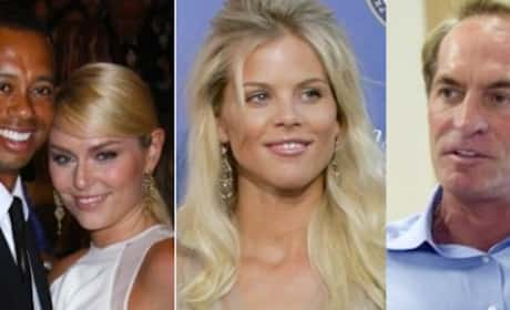 Tiger Woods, Elin Nordegren, Lindsey Vonn & Chris Cline