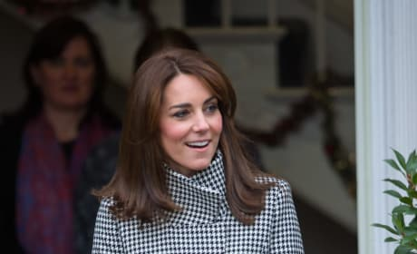 Kate Middleton Wears Reiss Jacket To Action on Addiction Center