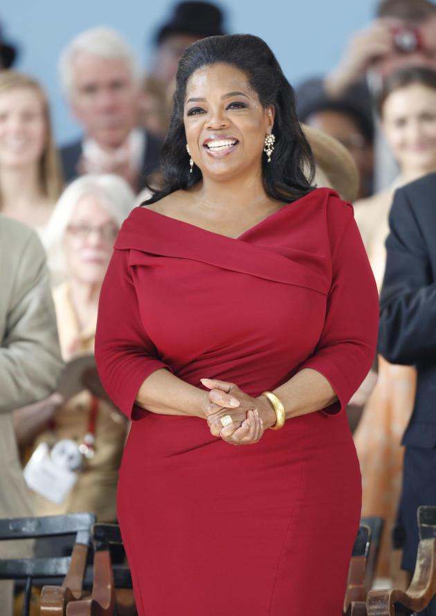 Oprah Winfrey in Red