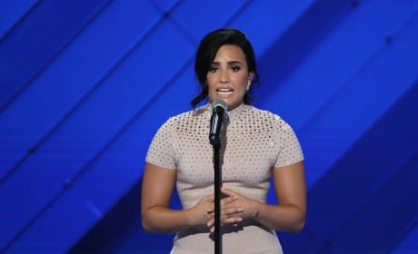 Demi Lovato at the DNC