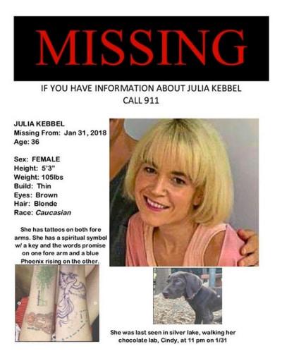 Julia Kebbel Missing Poster