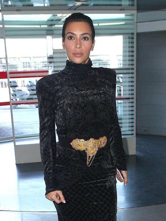 Kim Kardashian Wears Black