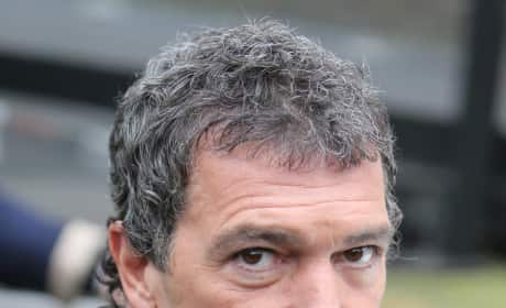 Antonio Banderas on Set