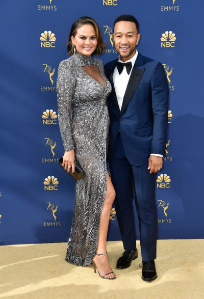 Chrissy Teigen and John Legend, 2018 Emmy Awards