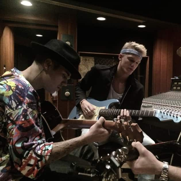 Cody Simpson and Justin Bieber