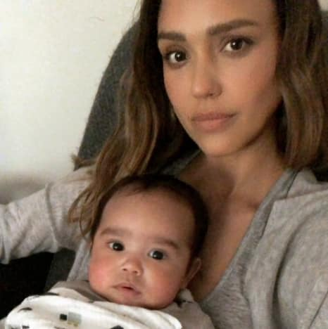 Jessica Alba and Baby Hayes Alba Warren
