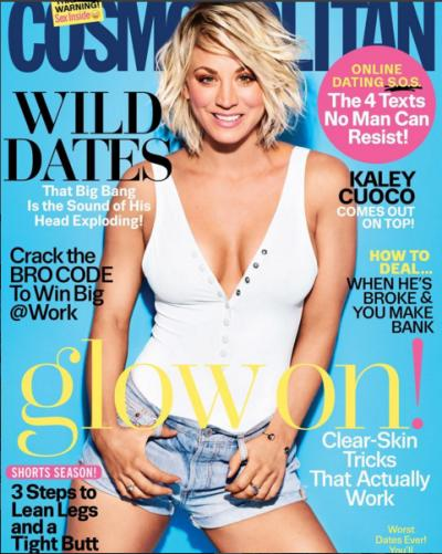Kaley Cuoco Cosmopolitan Cover April 2016